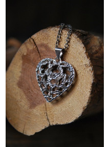 TOC Hammered Heart Necklace