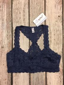 95d57e4d50 Lace Bralette Royal Blue By Yetts