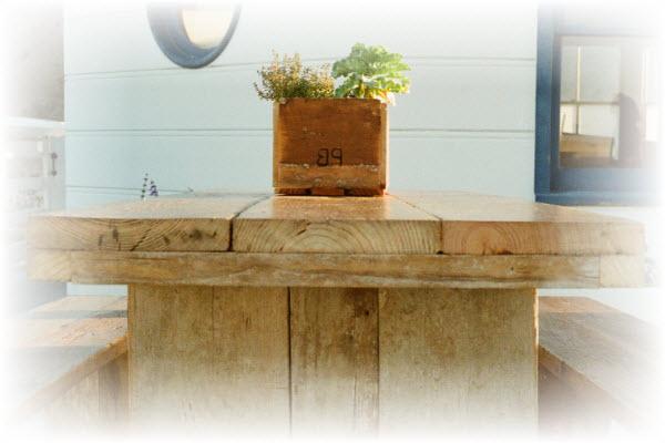 steigerhouten tafel maken met de steigerhouten tafel bouwtekening