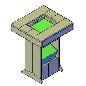Bierstatafel bouwtekening