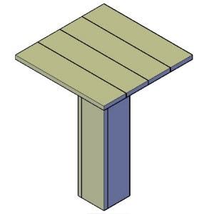 Vierkante / Ronde statafel bouwtekening