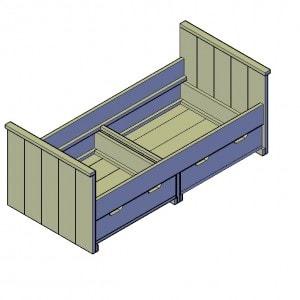 Eenpersoonsbed 2 lades