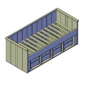 Eenpersoonsbed 4 lades