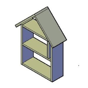 bijenhotel punt dak bouwtekening