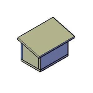 bijenhotel schuin dak bouwtekening
