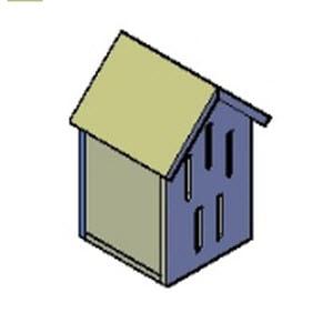 bijenhuisje meerdere openingen bouwtekening