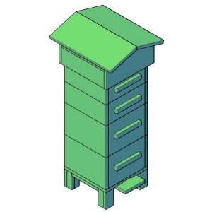 bijenkast groot bouwtekening