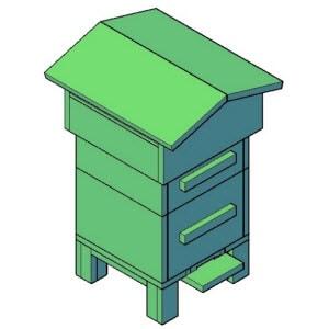 bijenkast middel bouwtekening