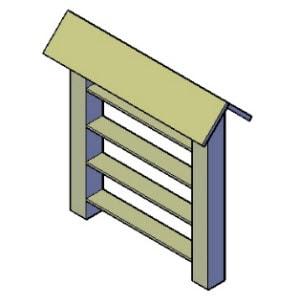 insectenhotel met planken bouwtekening