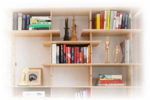 zelf een wandkast maken voor boeken boekenkast