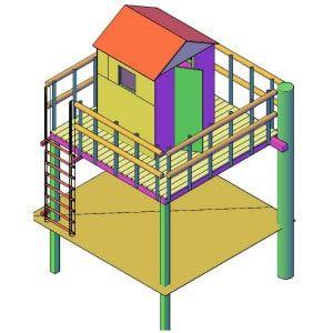 hut bouwen boomhut bouwtekening