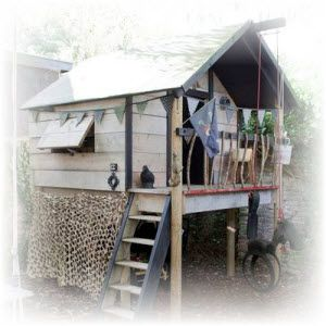 hut bouwen in de tuin