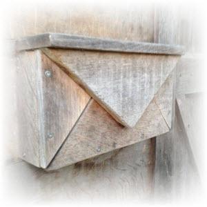 brievenbus van hout