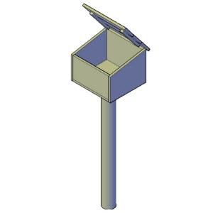 staande brievenbus bouwtekening