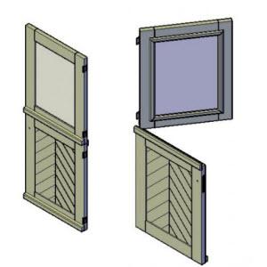 Duo deur bouwtekeningen