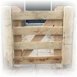 een hek zelf maken met de hekken bouwtekening
