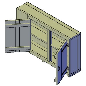 dressoir kast bouwtekening