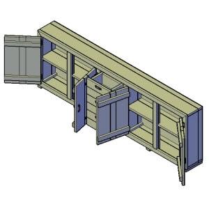 grote dressoir kast bouwtekening