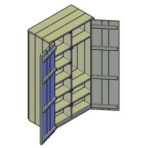 kledingkast type a bouwtekening