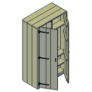 kleine kledingkast bouwtekening