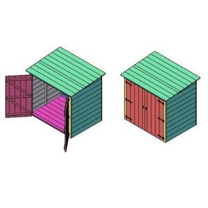 kleine tuinkast bouwtekening