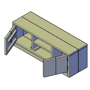 tv meubel type 1 bouwtekening