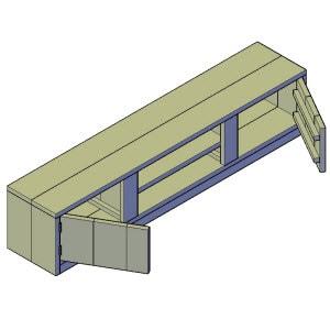 tv meubel type 2 bouwtekening