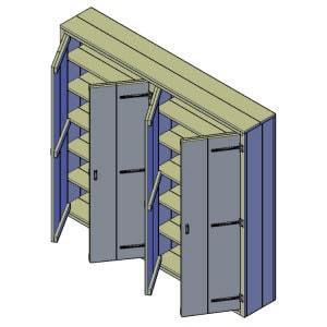 wandkast bouwtekening