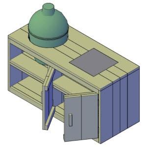 buitenkeuken maken bouwtekening