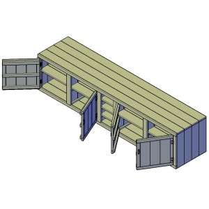 Buitenkeuken kast bouwtekening