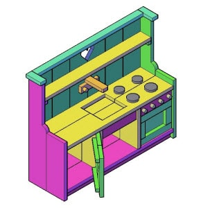 Kinderkeuken bouwtekening
