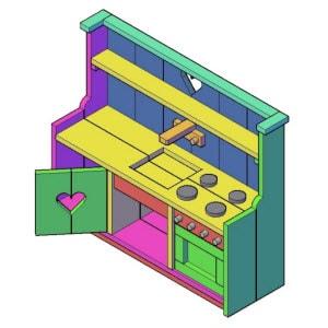 Kinderkeuken type B bouwtekening