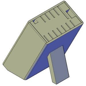 Messenblok bouwtekening