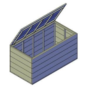 zelf houten kist maken voor buiten bouwtekening