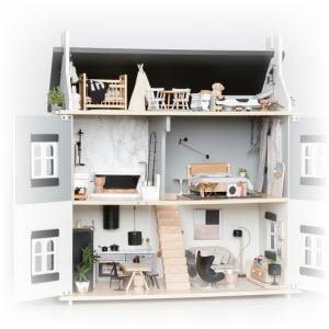 Poppenhuis maken download de bouwtekening for Groot poppenhuis