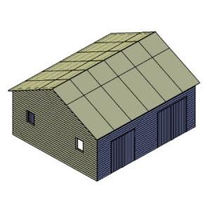 Garage / schuur bouwtekening