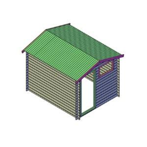 Kleine blokhut bouwtekening