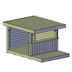 Overkapping type A bouwtekening