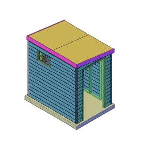 Schuur lessenaars dak bouwtekening