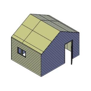 Schuur type A bouwtekening