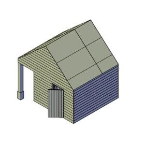 Veranda schuur bouwtekening