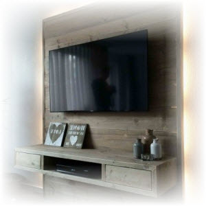 tv wand maken download de bouwtekening bouwtekeningenpakket. Black Bedroom Furniture Sets. Home Design Ideas