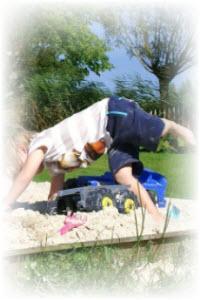 zandbak te diep voor kinderen is gevaarlijk