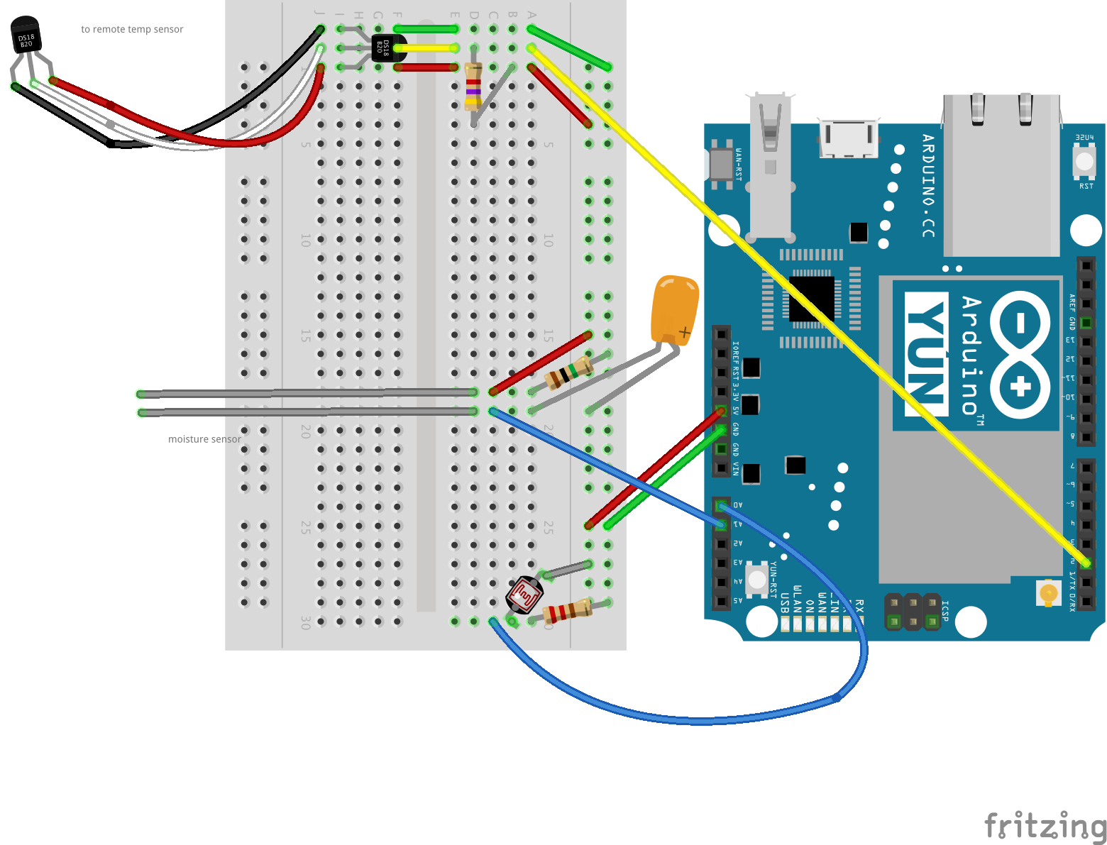 Connect arduino yun to mongodb with node graphing data