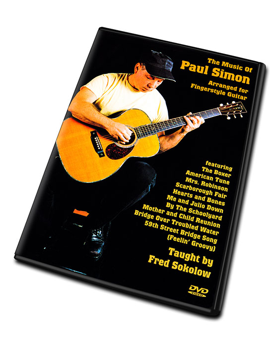 Details about THE MUSIC OF PAUL SIMON Video DVD Lessons for Fingerstyle  Guitar by Fred Sokolow