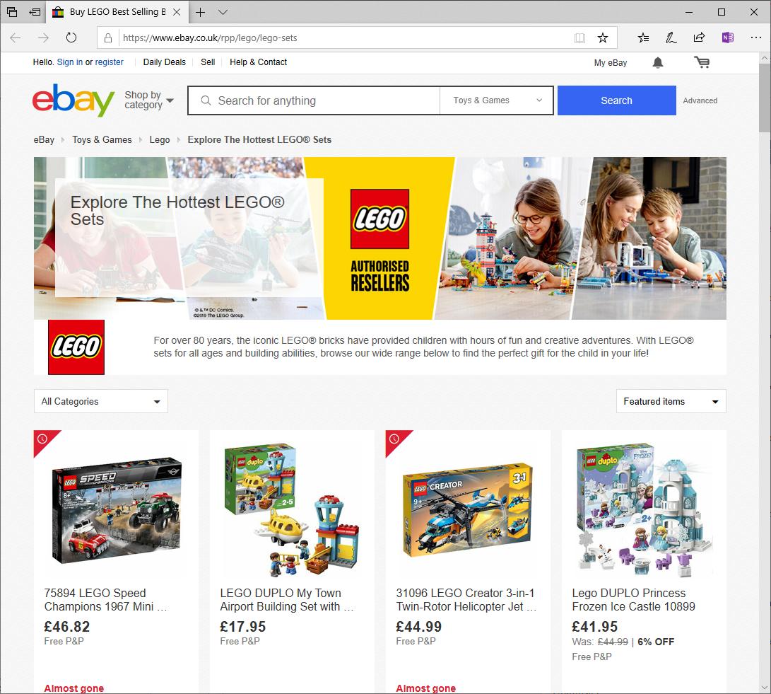 Ebay Uk Lego Authorised Resellers Ebay Marketplace Brickpicker