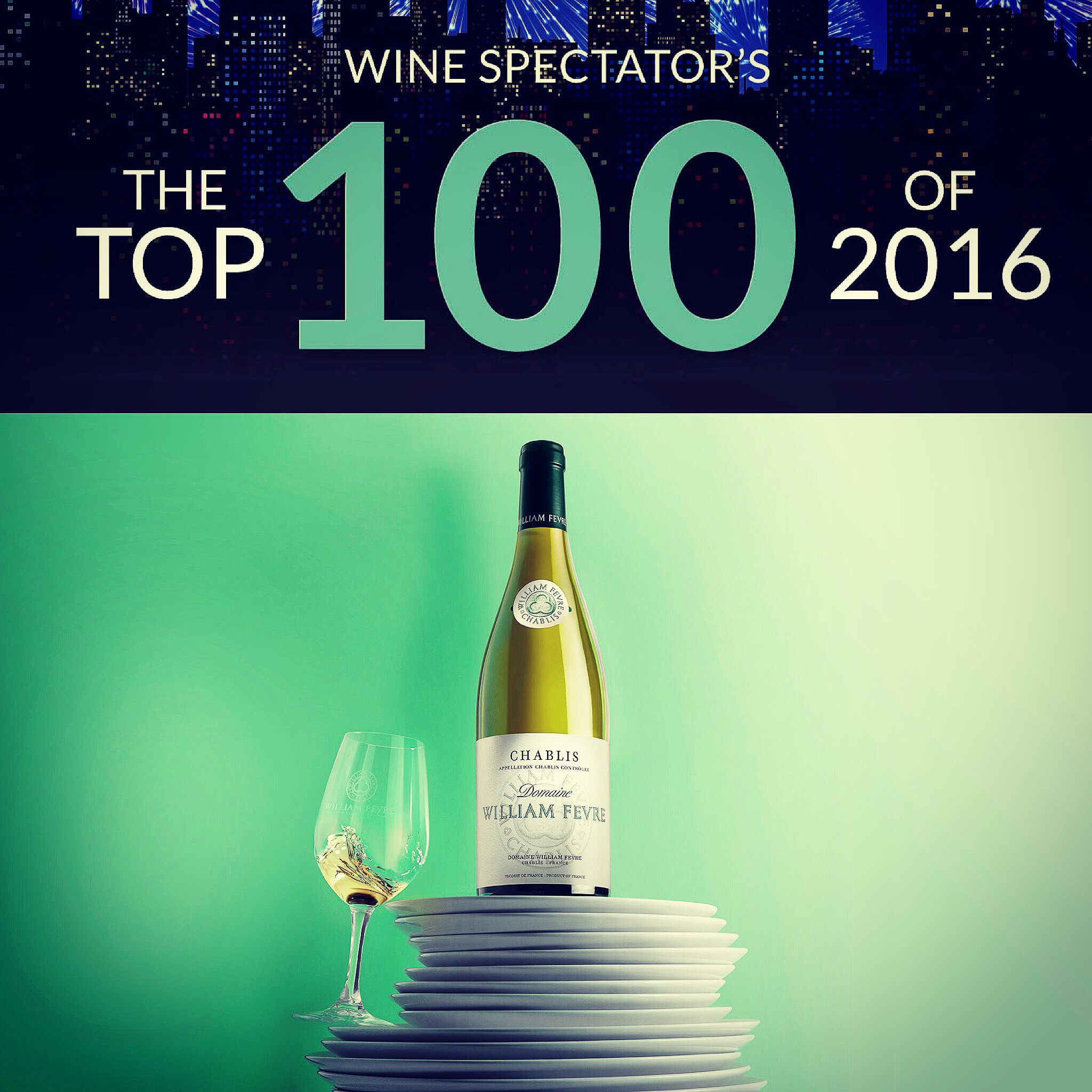 Our Chablis Domaine 2014 among Wine Spectator's TOP 100 wines !