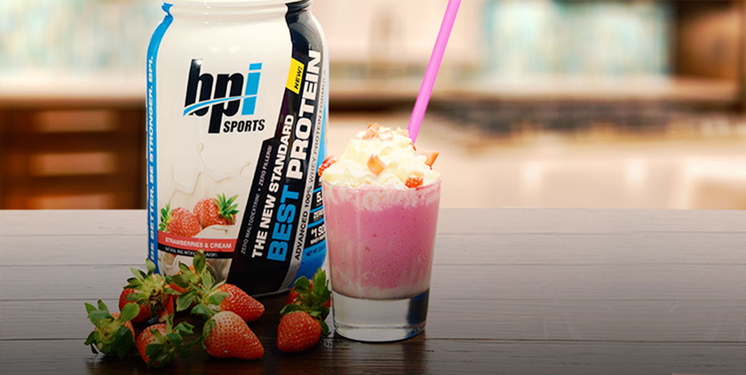 strawberries & cream protein shake