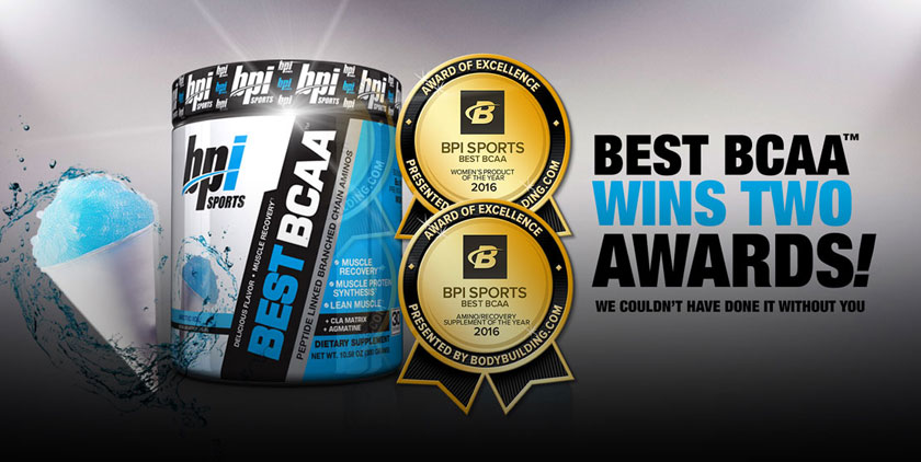 Best BCAA wins two Bodybuilding.com awards