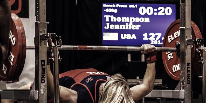jen thompson bench press